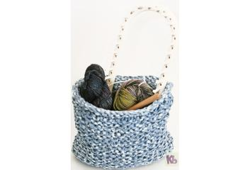 Loom Knitted Basket for web