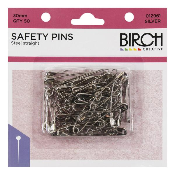 PINS SAFETY STEEL 30MM 50on SIZE 1